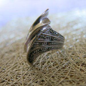 Vintage Art Deco Marcasite Sterling Silver Ring